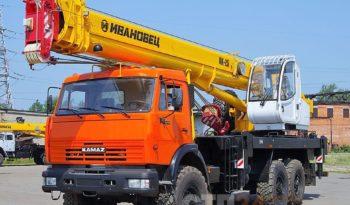 Аренда автокрана 25 тонн на базе полноприводного КАМАЗа