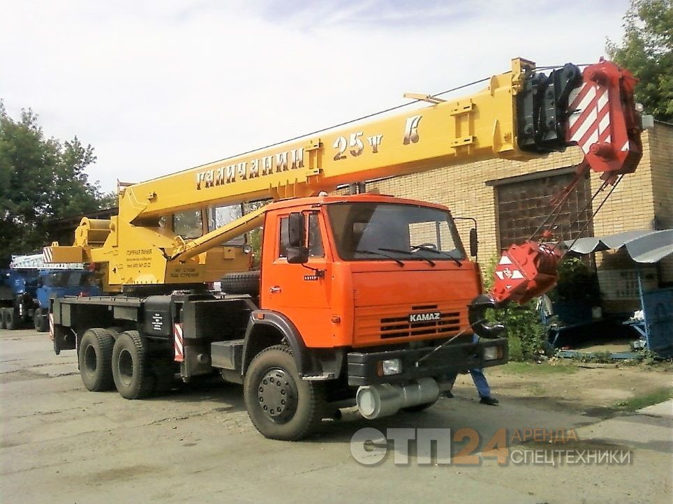 Аренда автокрана 25 тонн, стрела до 28 метров