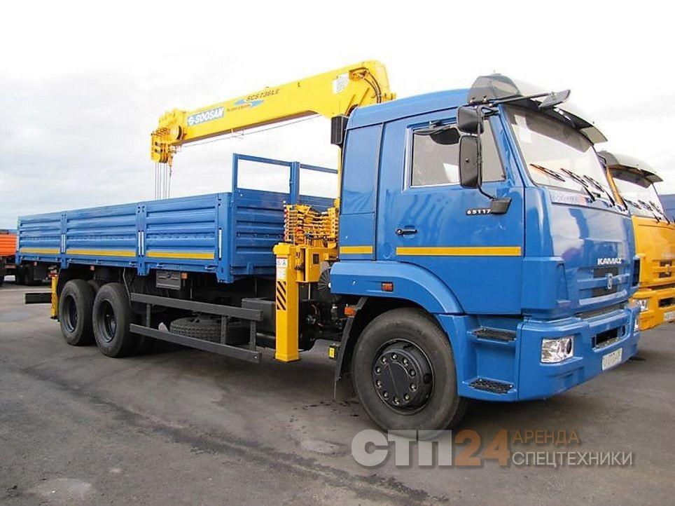 Аренда манипулятора грузоподъёмностью 7 тонн на базе КАМАЗ
